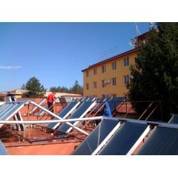 Монтаж на слънчеви колектори комплекс Зорница, Казанлък
